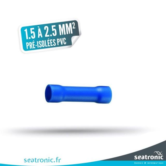 10 manchons pré-isolés PVC bleu 1,5 à 2,5 mm²