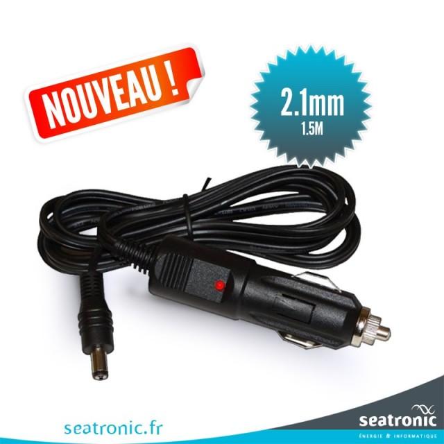 Câble d'alimentation du Chargeur Allume-cigare 12 Volts DC 2,1 mm