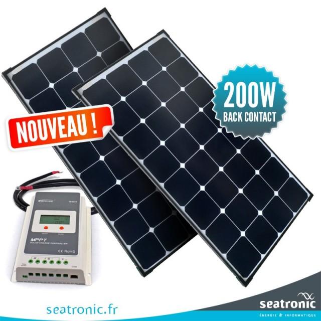Kit de portique 200 watts (2 x 100 watts) back contact MPPT