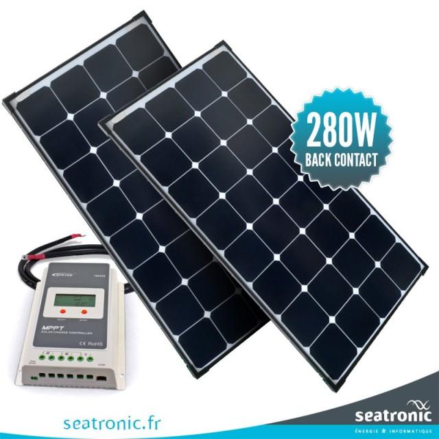 Kit de portique 280 watts (2 x 140 watts) back contact MPPT