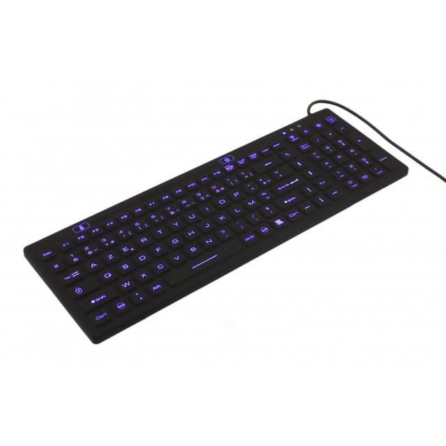 Clavier rigide étanche filaire IP68 avec clavier numérique et rétro-éclairage