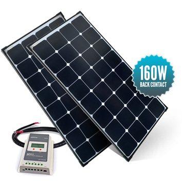 Kit de portique 160 watts (2 x 80 watts) back contact MPPT