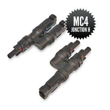 Paire de connecteurs MC4 de jonction H (1M-2F + 2M-1F )
