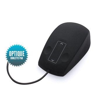 Souris filaire USB optique étanche  avec roulette Pad