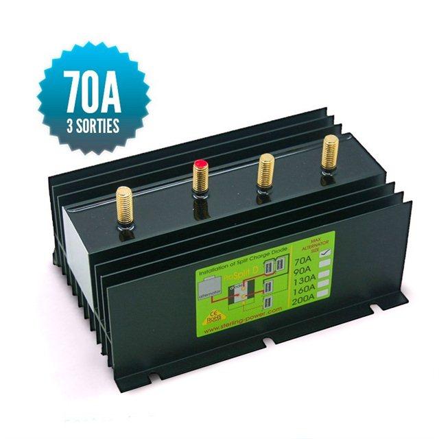 Répartiteur à diodes 1 entrée 3 sorties 70A