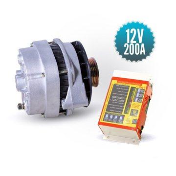 Alternateur 12V/200A avec régulateur PDAR