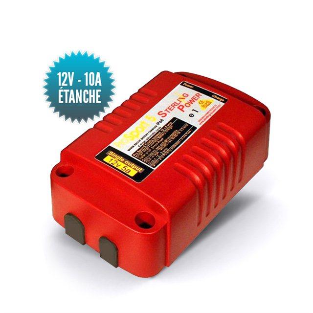 Chargeur étanche IP68 Pro Sport 12V / 10A (deux sorties) 24V/5A