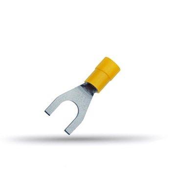 20 cosses isolées à fourche jaunes 4 à 6 mm²