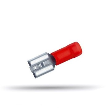 20 cosses isolées femelles plates câble 0.5 à 1 mm² épaisseur 0.8 mm