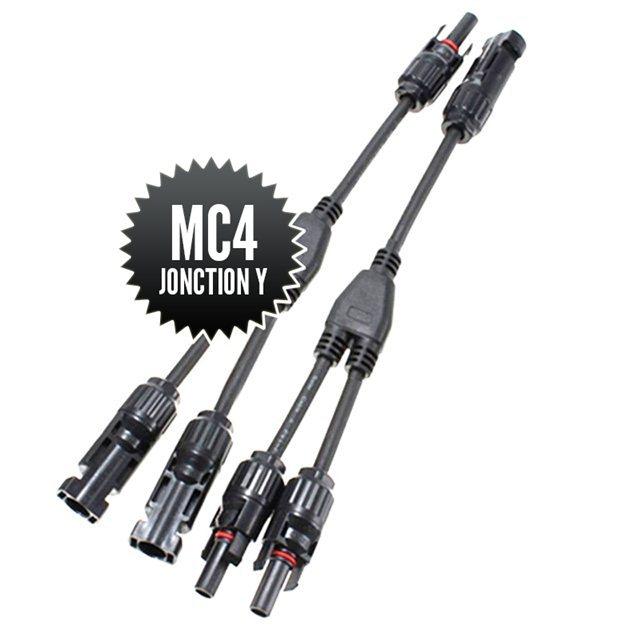 Connecteurs MC4 de jonction Y (1M-2F + 2M-1F )