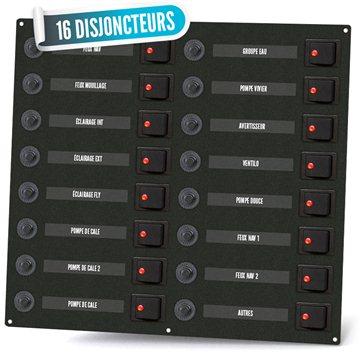 Tableau électrique bipolaire 16 disjoncteurs
