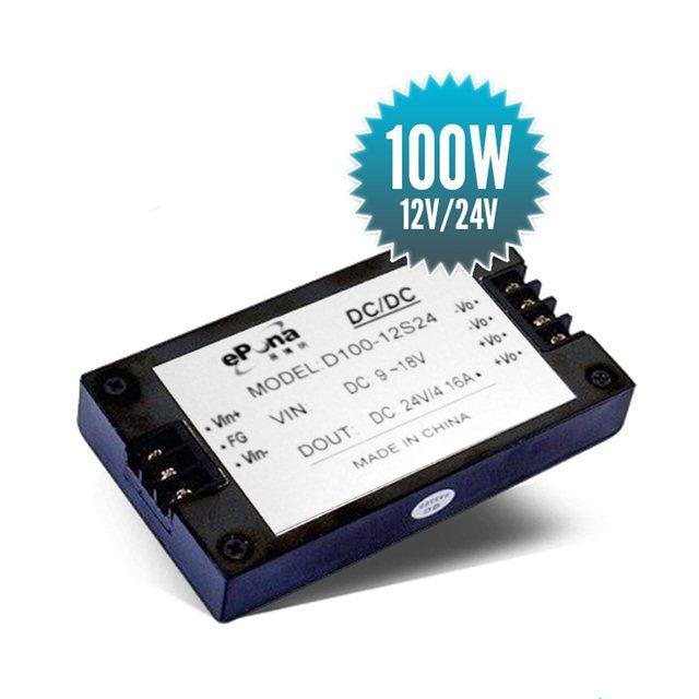 Elévateur de tension isolé 12V / 24V - 100W