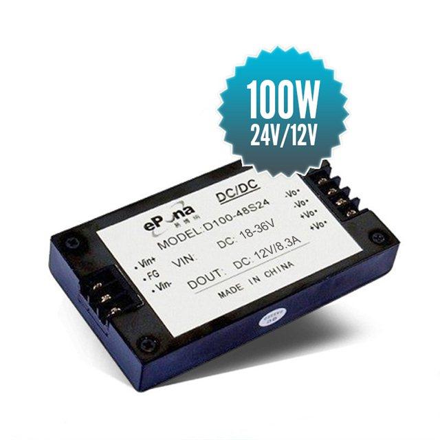 Abaisseur de tension isolé 24V / 12V - 100W