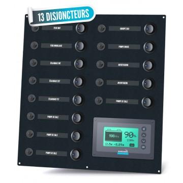 Tableau électrique 13 disjoncteurs avec gestionnaire de batterie