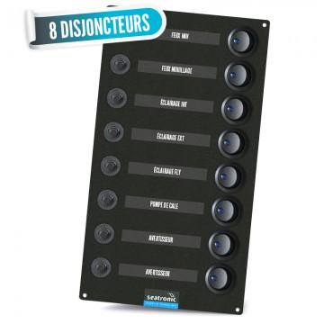 Tableau électrique 8 disjoncteurs seatronic personnalisable