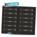 Electrical panel 12 circuit breakers