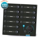 Electrical panel 10 circuit breakers with Seatronic cigar lighter socket