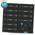 Tableau électrique 10 disjoncteurs avec prise allume cigare Seatronic