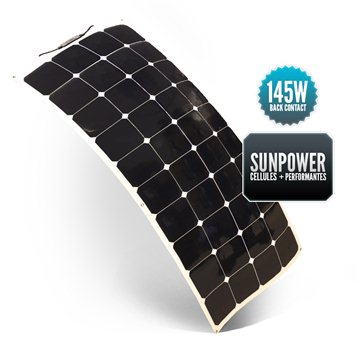 Panneau Souple SUNPOWER 145 watts Back Contact (ancien 135W)