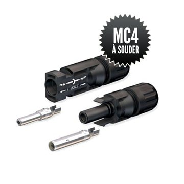 pair of MC4 solder connector MC4