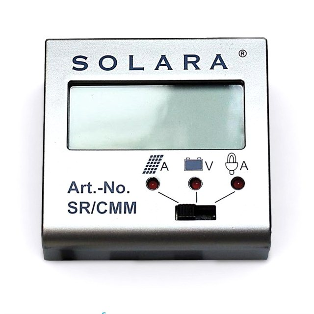 Control panel for solar controller SR135TL