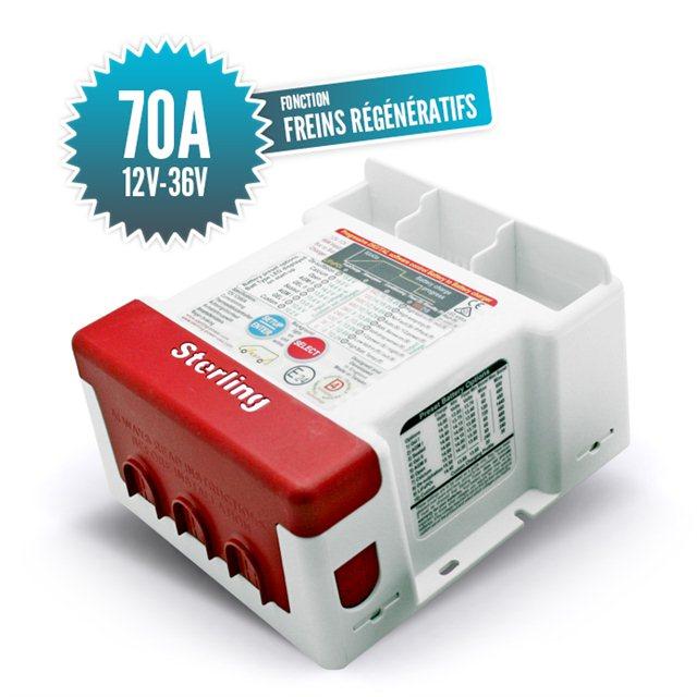 Battery charger 12V - 36V / 70A (in) - regenerative brake function