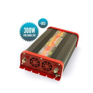 Pure sinus converter 24 Volts / 300 Watts with circuit breaker