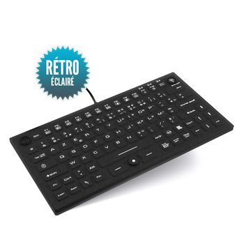 Wired waterproof rigid keyboard with small backlight