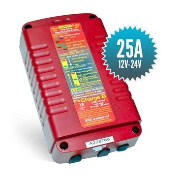 Chargeur de batterie à batterie 12V - 24V / 25A