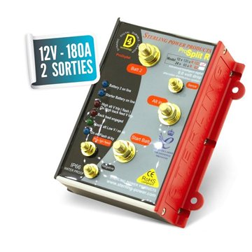 Lossless distributor 12V/180A with two PRO SPLIT outputs