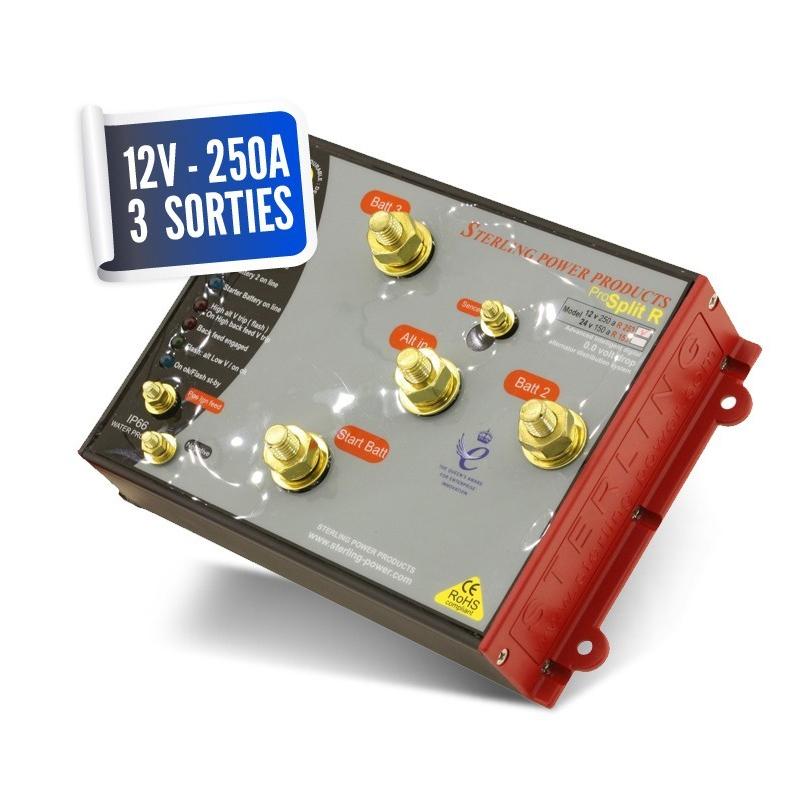 Lossless distributor 12V/250A three PRO SPLIT outputs