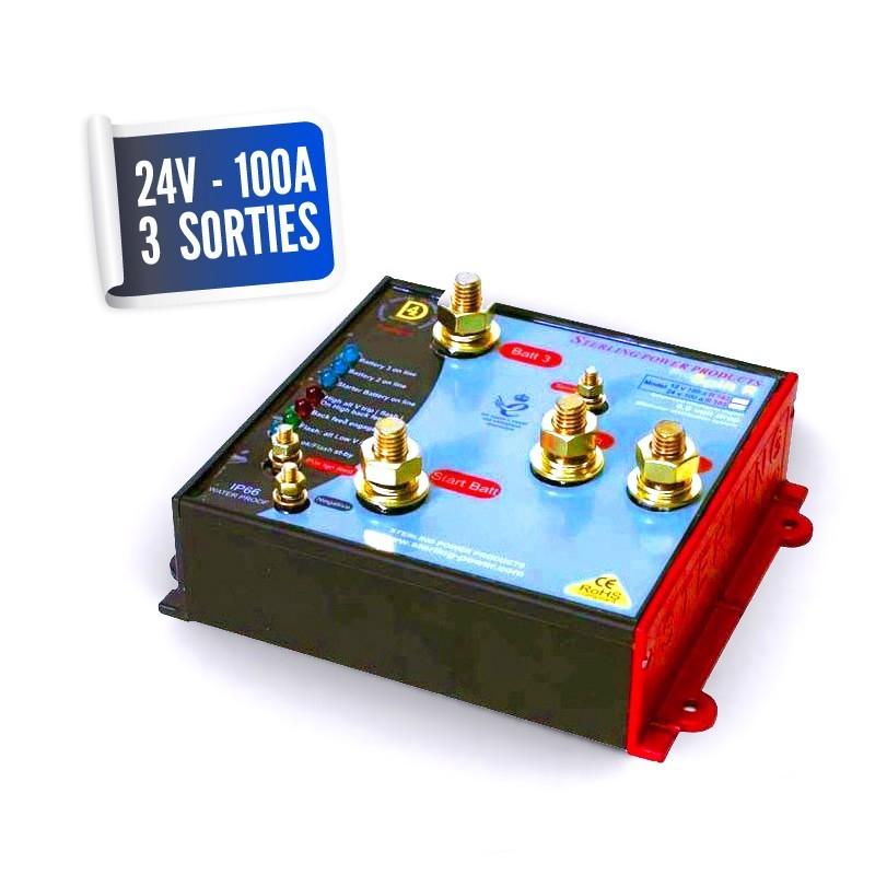 Lossless distributor 24V/100A three PRO SPLIT outputs