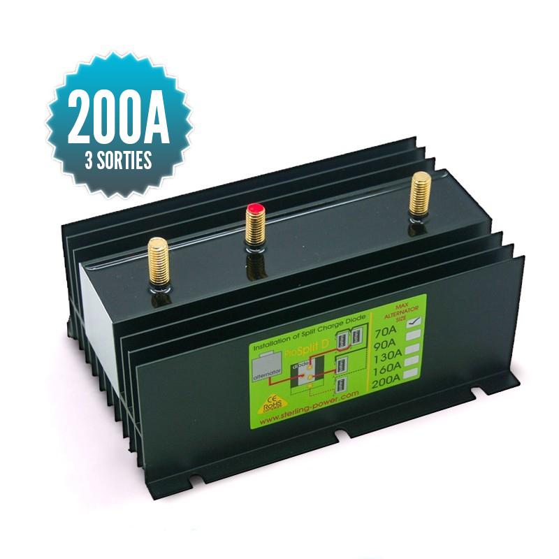 Répartiteur à diodes 1 entrée 3 sorties 200A