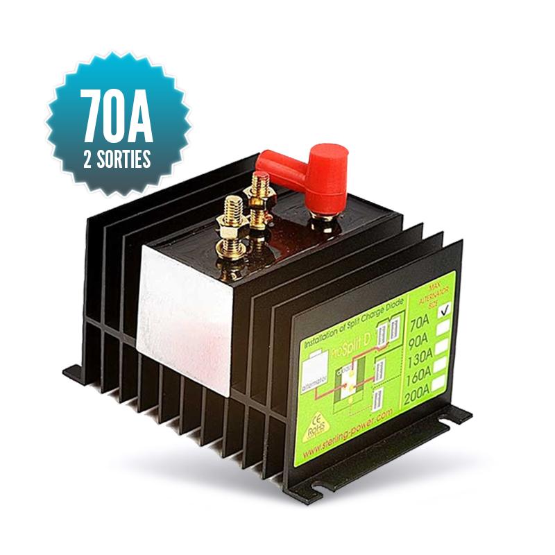 Diode distributor 1 input 2 outputs 70A
