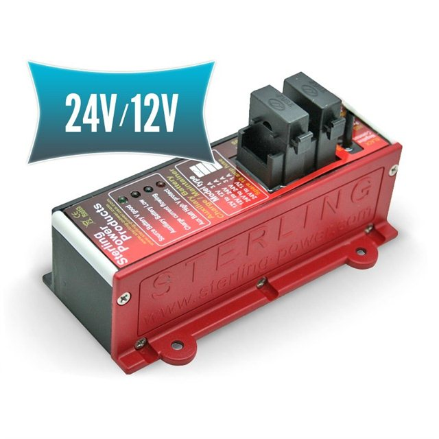 Auxiliary battery charger 24V/12V
