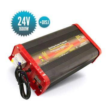 Pure sinus converter 24 Volts / 1600 Watts with circuit breaker