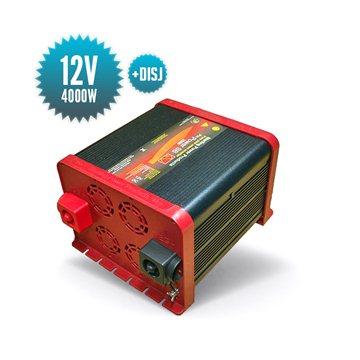 Convertisseur pur sinus 12V 4000W disjoncteur intégré