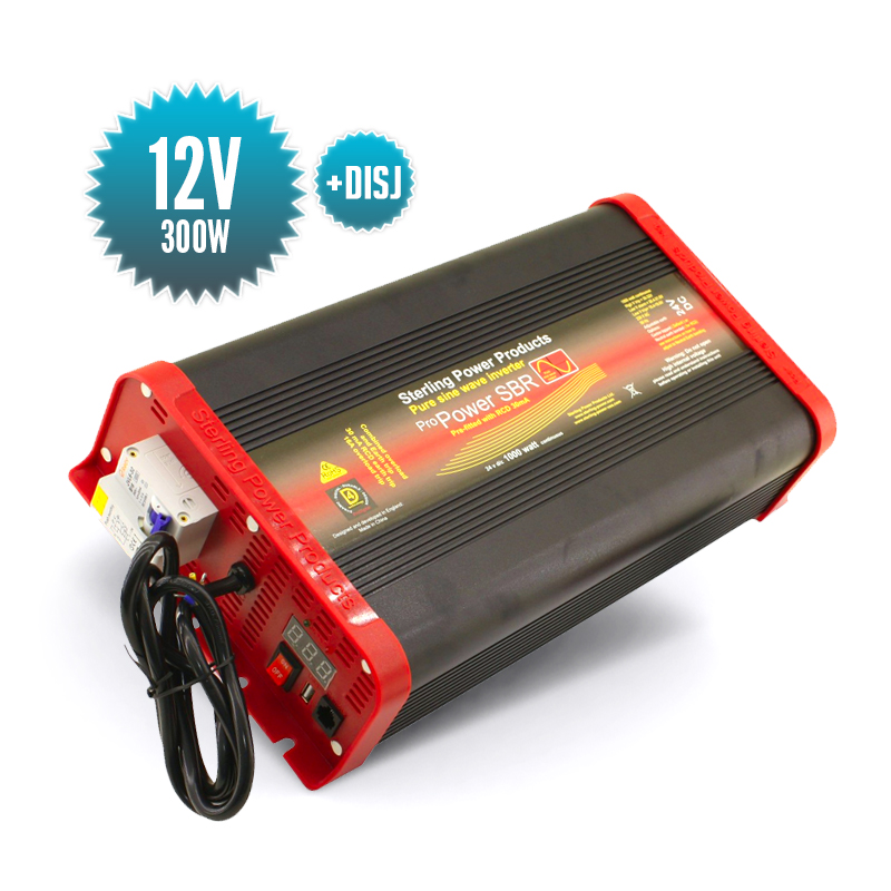 Pure sinus converter 12 Volts / 300 Watts with circuit breaker