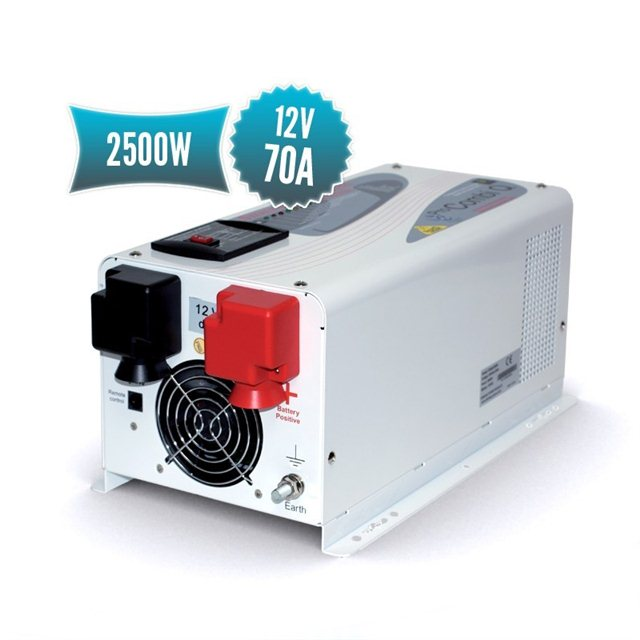 12V pure sinus combi (2500W converter, 70A charger)