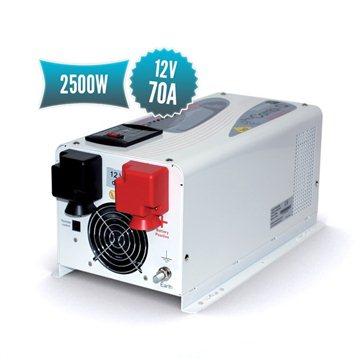Combi pur sinus 12V (convertisseur 2500W, chargeur 70A)