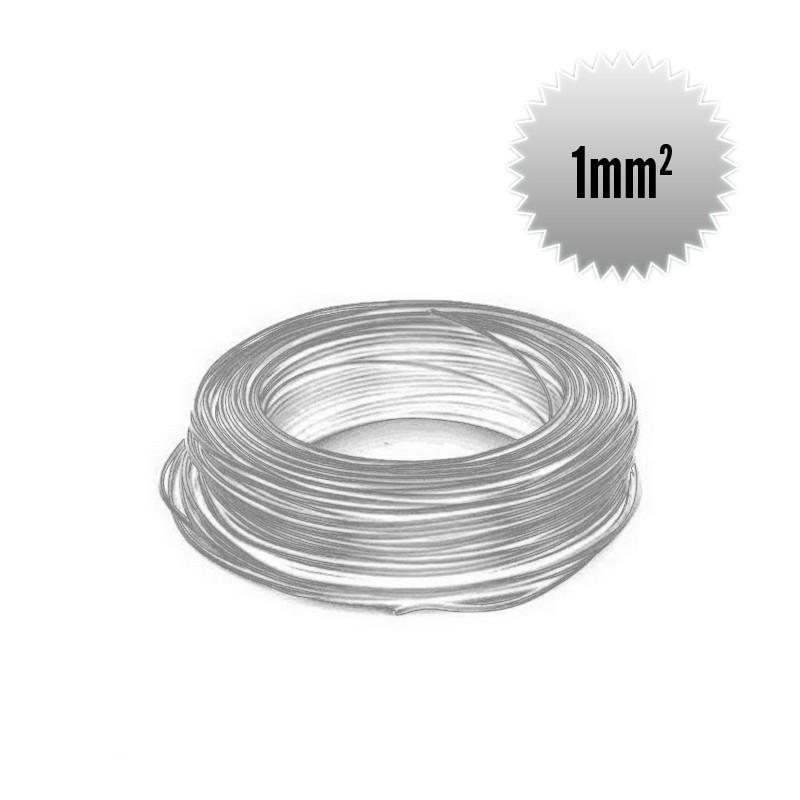 Fil monoconducteur H05 V-K  1 mm² blanc couronne 100m