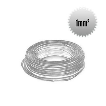 Single wire H05 V-K 1 mm² white crown 100m