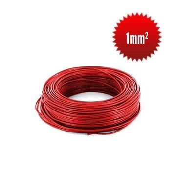 Fil monoconducteur H05 V-K  1 mm² rouge couronne 100m