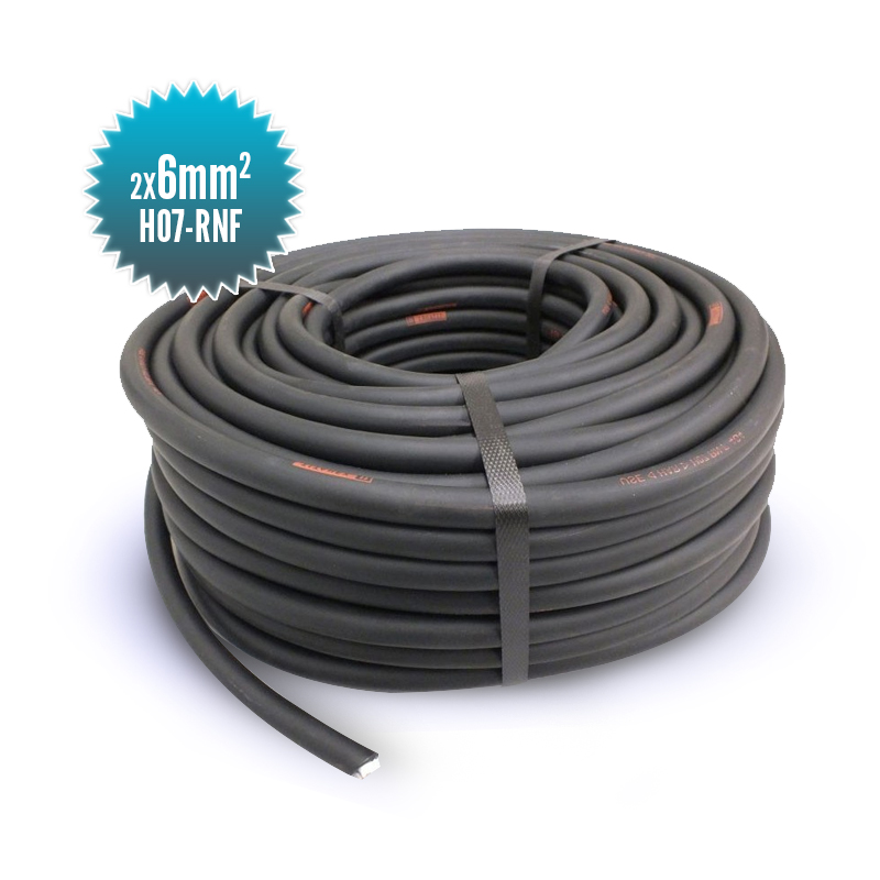 Double conductor cable HO7-RNF 2X6MM²