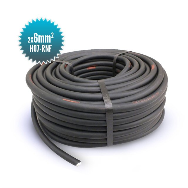 Cable double conducteur HO7-RNF 2X6MM²