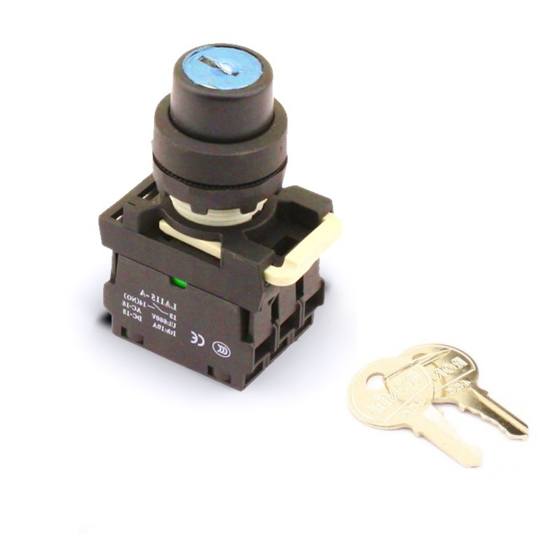 Key switch for remotely controlled circuit breaker
