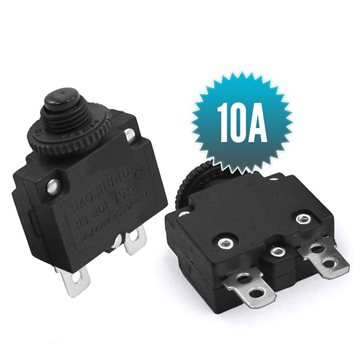 125/250VAC 10A 2 Pin Thermal Overload Protective Circuit Breaker