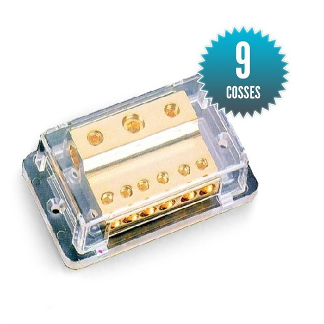 Gold plated terminal block for 9 terminals
