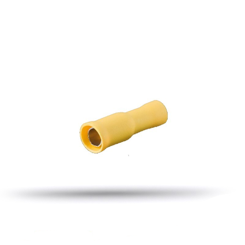 20 round yellow female insulated lugs 4 to 6 mm²