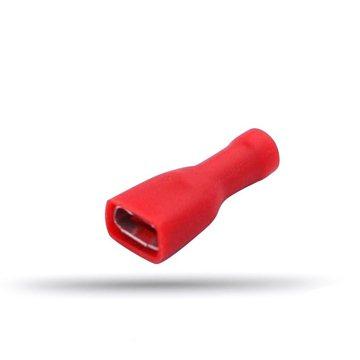 20 cosses femelles plates isolées rouges câble 0.5 à 1 mm² épaisseur 0.8 mm